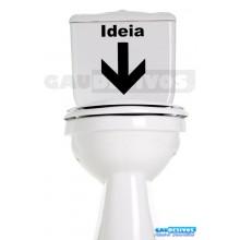 Adesivo de parede decorativos banheiro Ideia