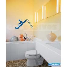 Adesivo de parede decorativos banheiro Escorregador