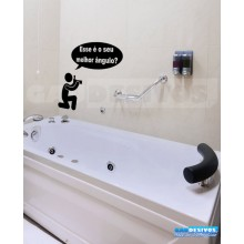 Adesivo de parede decorativos banheiro Fotografia