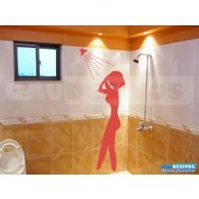 Adesivo Decorativo Para Box Mulher No Banho Vitrine Vidro