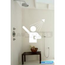 Adesivo Decorativo Para Box Homen No Chuveiro Vidro Banheiro