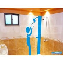 Adesivo Decorativo Para Box Homen No Banho. Vidro. Banheiro