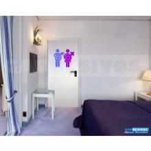Adesivo Decorativo Para Porta De Banheiro Homen E Mulher Box