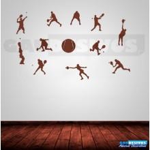 Adesivo Decorativos 11 Jogadores de Tênis