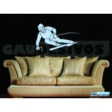 Adesivo De Parede Decorativo Homem Esquiando