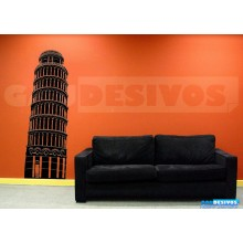 Adesivo decorativo estatua e monumento - Torre de Pisa