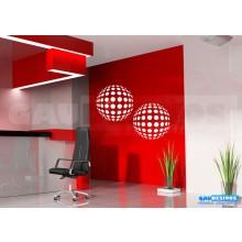 Adesivo decorativos Abstrato 2 Bola grande - Pode escolher 1 bola cada cor