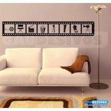 Adesivos decorativos de Cinema Filmes. Variados temas
