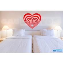 Adesivo decorativo Romantico Efeito Coração