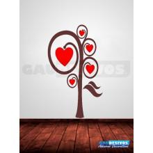 Adesivos Decorativos Arvore com Coração