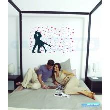 Adesivo Decorativo romantico casal com Coração