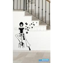 Adesivo de parede decorativo silhueta teen