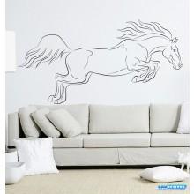 Decoração em Adesivo para Parede Animal Cavalo Pulando