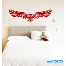 Adesivo Decorativo de Parede Animal Coruja Voando