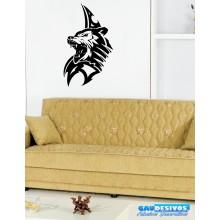 Adesivo Decorativo de Parede Animal Tigre Mandala
