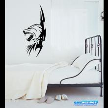 Adesivo Decorativo de Parede Animal Tigre e Mandala