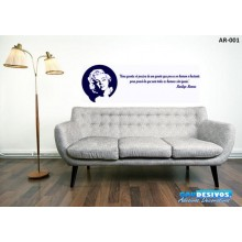 Adesivo Frase Marilyn Monroe