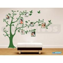Adesivo Parede Árvore Porta Retrato Genealógica