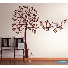 Adesivo Árvore Genealógica Varal de Fotografias