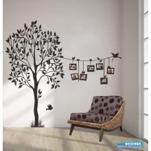 Adesivo Árvore Genealógica Varal de Fotografias II
