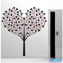 Adesivo Árvore de Corações