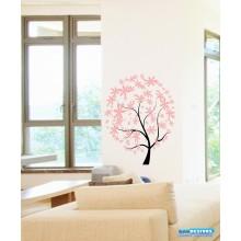 Adesivo Decorativo de Parede Arvore Folhas de Flores