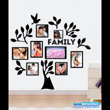 Adesivo Decorativo de Parede Árvore Para Fotos Porta Retrato