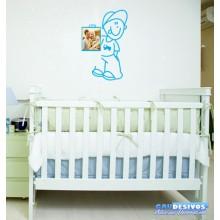 Adesivo Decorativo De Parede Criança Porta Retrato