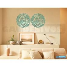 Adesivos Abstratos bola espiral