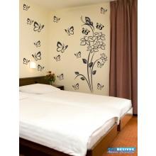 Combo Adesivo Decorativo de Parede Floral 3 e Kite Borboletas