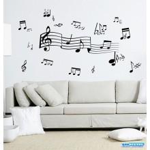 Adesivo Decorativo de Parede Combo Musicais