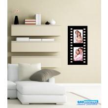 Adesivos Decorativo Porta Retrato Filme Vertical 2 Fotos (Tamanho da Foto: 10x15cm)