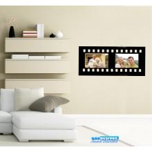 Adesivos De Parede Porta Retrato Filme Horizontal 2 Fotos (Tamanho da Foto: 10x15cm)