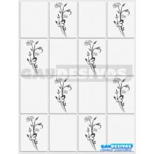 Kit Floral com  10 Adesivos Flores