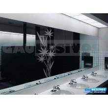 Adesivo Decorativo para Vidro/Box Bambuzal Grande Jateado