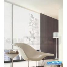 Adesivo Decorativo para Vidro/Box Floral com Borbooleta Jateado