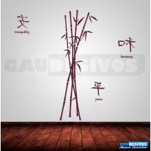 Adesivos florais bambu
