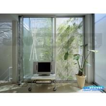 Adesivo Decorativo para Vidro/Box Bambu Jateado