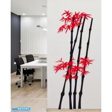 Adesivo Decorativo de Parede Floral Bambuzal Colorido