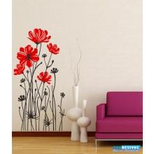 Adesivo Decorativo de Parede Floral de Flores