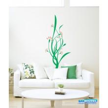 Adesivo Decorativo de Parede Floral Folhas e Folhas