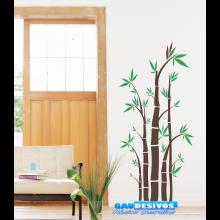 Adesivo Decorativo de Parede Floral Bambuzal Folhas
