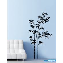 Adesivo Decorativo de Parede Floral 3 Bambuzais