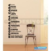 Adesivo Frases educação Regras da Casa