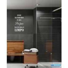 Adesivo Decorativo De Parede Frase Esse Banheiro É Seu