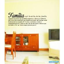 Adesivo Decorativo De Parede Frase Significado Familia