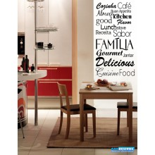Adesivo Decorativo para Parede Frase Cozinha