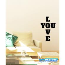 Adesivo Decorativo de Parede Frase Love You