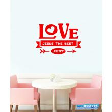 Adesivo Decorativo de Parede Frase Love Jesus