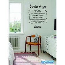 Adesivo Decorativo de Parede Frase Santo Anjo
